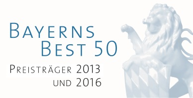 Image of Bayerns Best 50 award 2013 and 2016